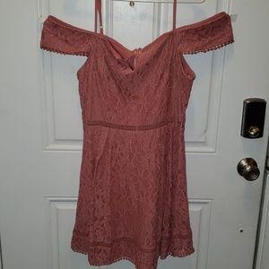 Soft pink lace dress